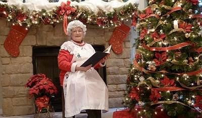 Mrs. Claus visits Family Story Time