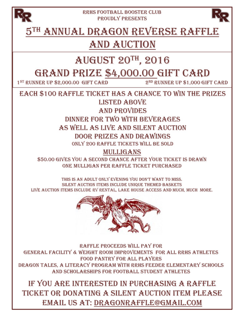 RRHS Football Boosters Reverse Raffle