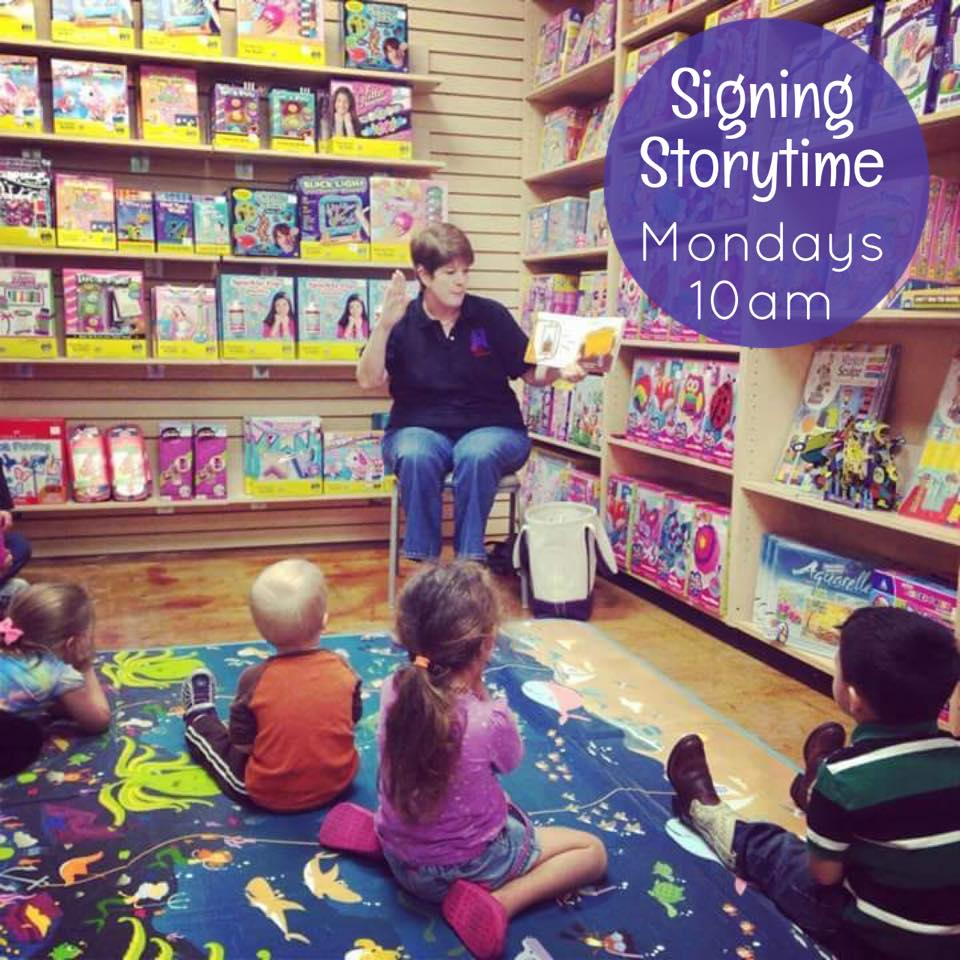 Signing Story Time at Kaleidoscope Toys