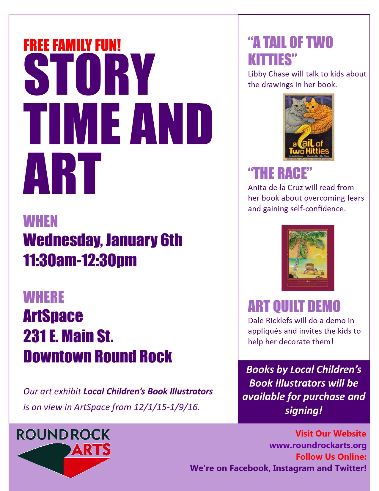 story time art at artspace round the rock