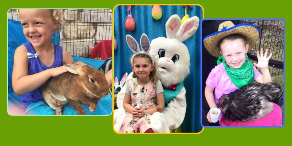 Easter Bunny Fun and Petting Zoo at Kaleidoscope Toys