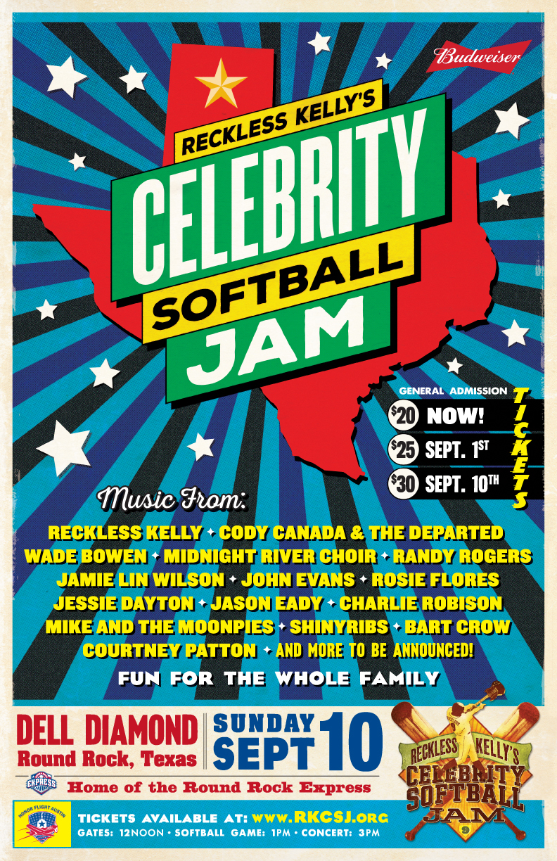Reckless Kelly gears up for final Celebrity Softball Jam ...