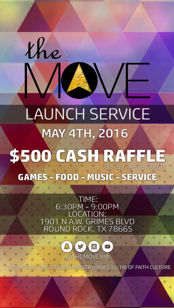 "Faith Culture launches ""The Move"" Youth Ministry"