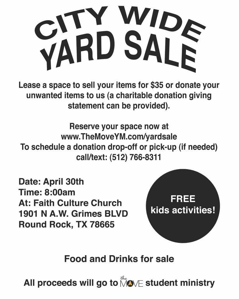 the move yard sale