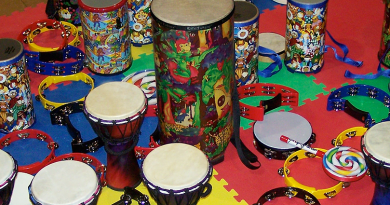 Drum circle at the Library