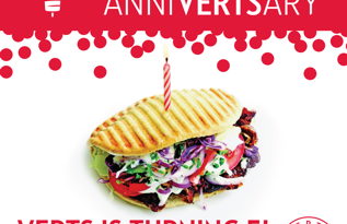 Free Entrée at VERTS to Celebrate 5th Anniversary