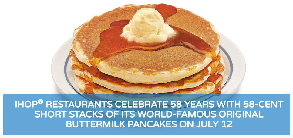IHOP Celebrates 58 Years with 58 cent Short Stacks