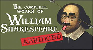 """Sam Bass Community Theatre presents """"The Complete Works of William Shakespeare (Abridged)"""""""