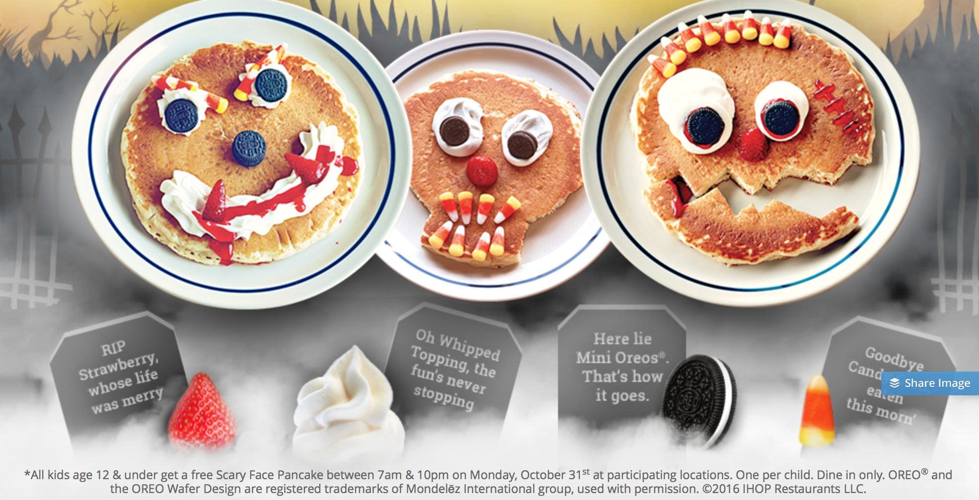 FREE Scary Face Pancakes At IHOP