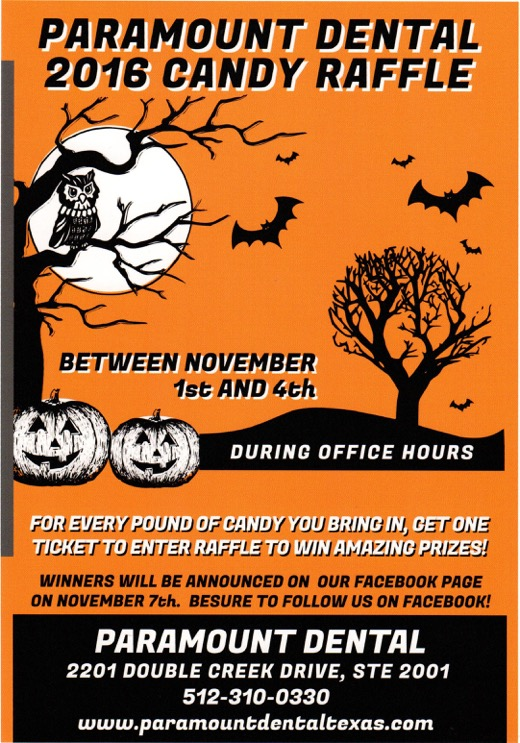 Paramount Dental's Halloween Candy Raffle