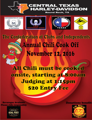 Central Texas Harley Davidson hosts Annual Chili Cook-off