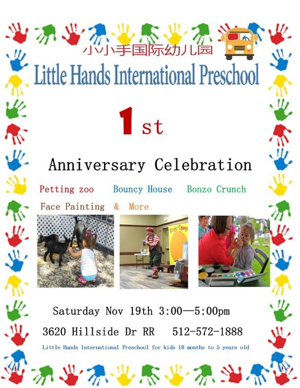 Little Hands International Preschool Celebrates One Year Anniversary
