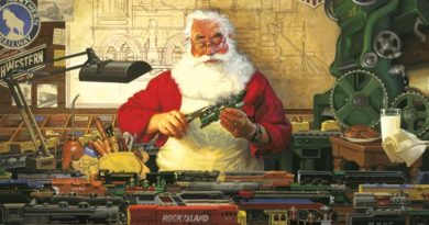 Santa Visits ArtSpace and Model Train Show