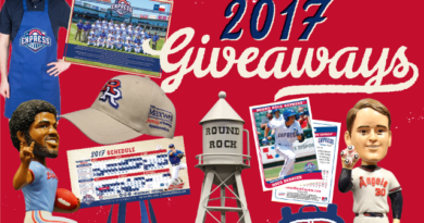 Round Rock Express Announces 2017 Giveaways