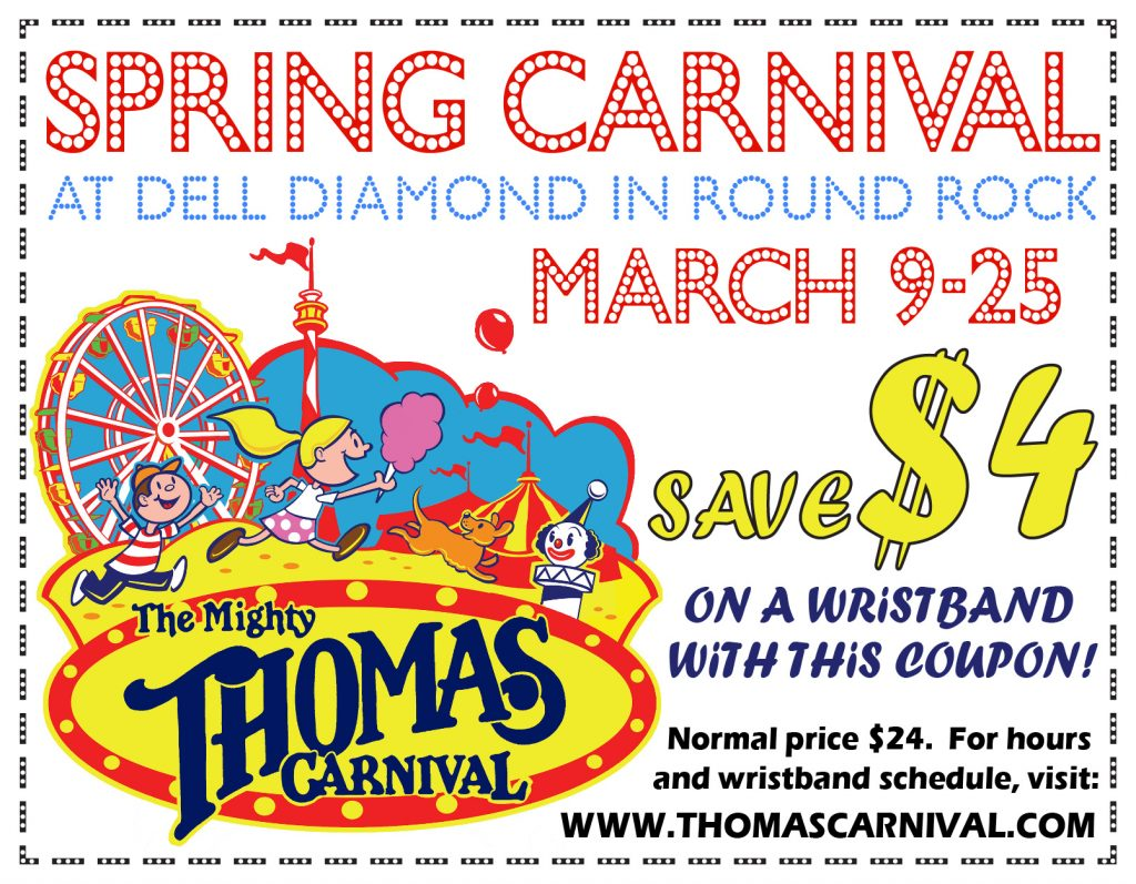 Carnival at Dell Diamond in Round Rock Coupon