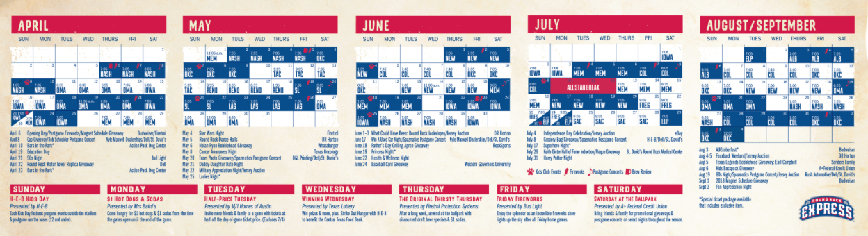 Round Rock Express Schedule 2019 Ultimate Guide to the Round Rock Express for 2019   Round The Rock
