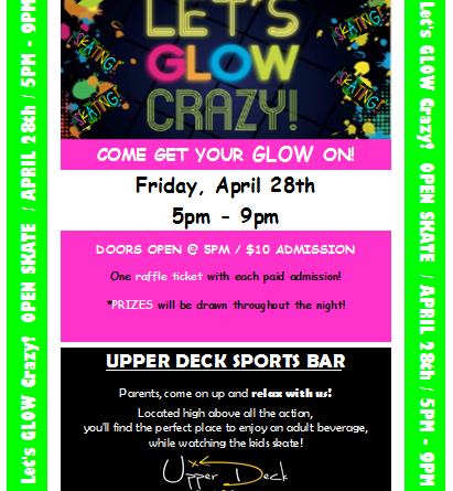 Let's GLOW Crazy at Austin Sports Arena