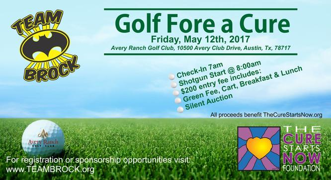 Team Brock is hosting their First Annual Golf Fore a Cure Tournament
