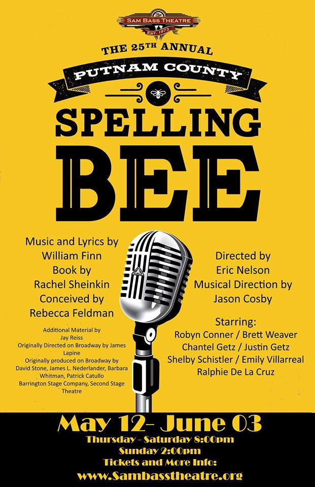 Sam Bass Community Theatre presents The 25th Annual Putnam County Spelling Bee