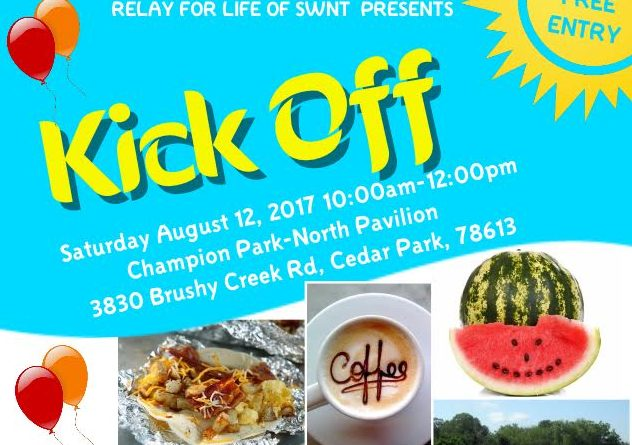 Relay for Life SWNT Kickoff Event