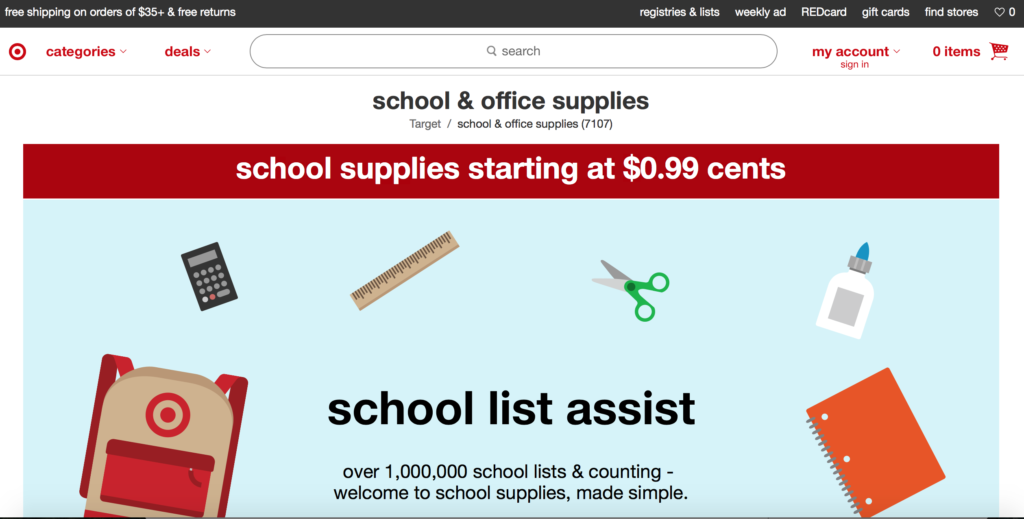 Best Back to School Shopping Tip: Target