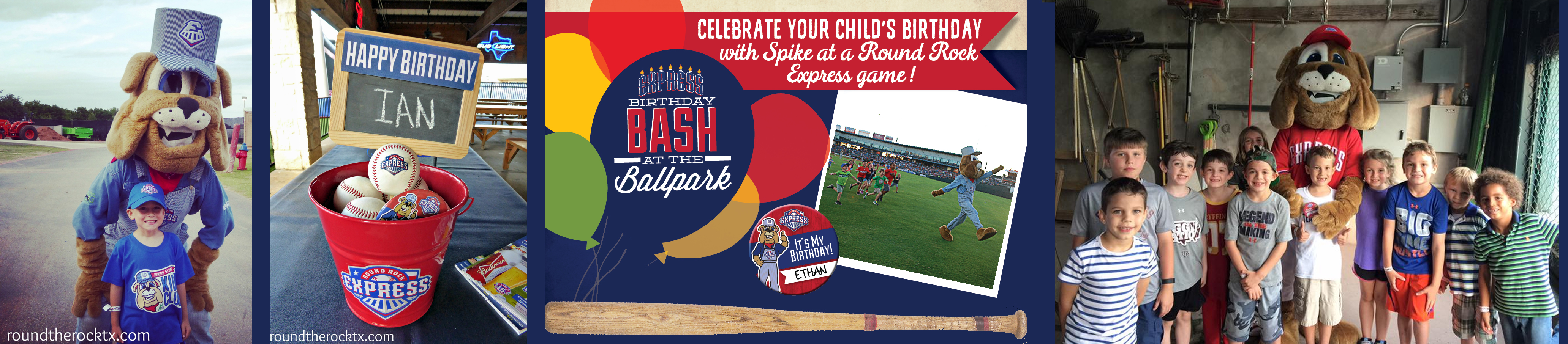 Round the Rock Birthday Party Directory - Round Rock Express