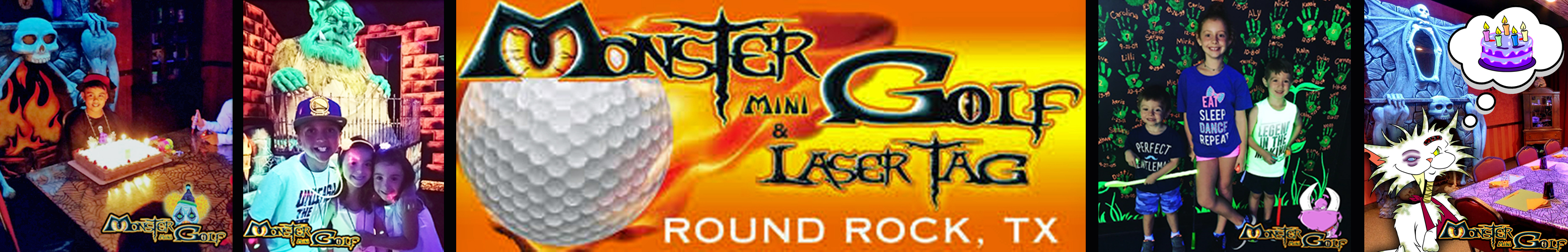 Round the Rock Birthday Party Directory- Monster Mini Golf & Laser Tag