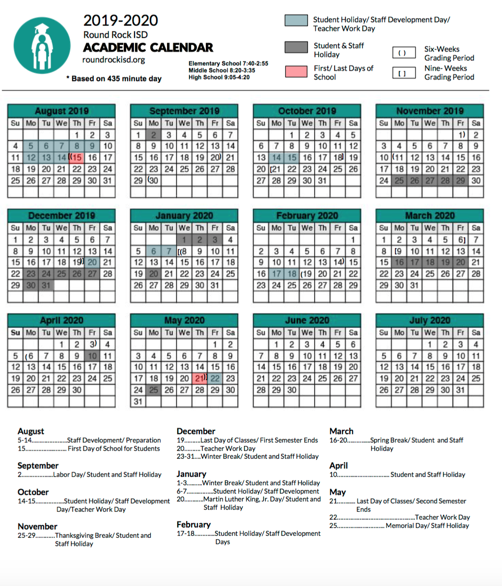 What You Need to Know About the RRISD Academic Calendars ...