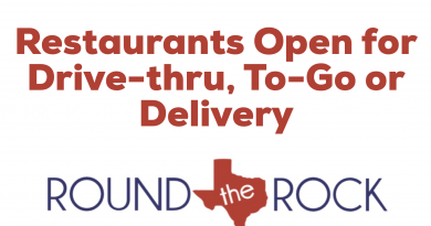 Round Rock Restaurants Open to To-Go, Curbside & Delivery Options