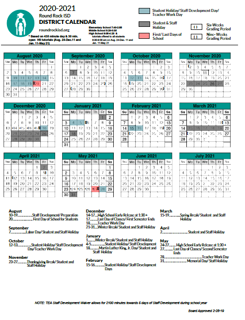 Rrisd 2021 Calendar Round Rock Back to School Guide | Round Rock, Texas
