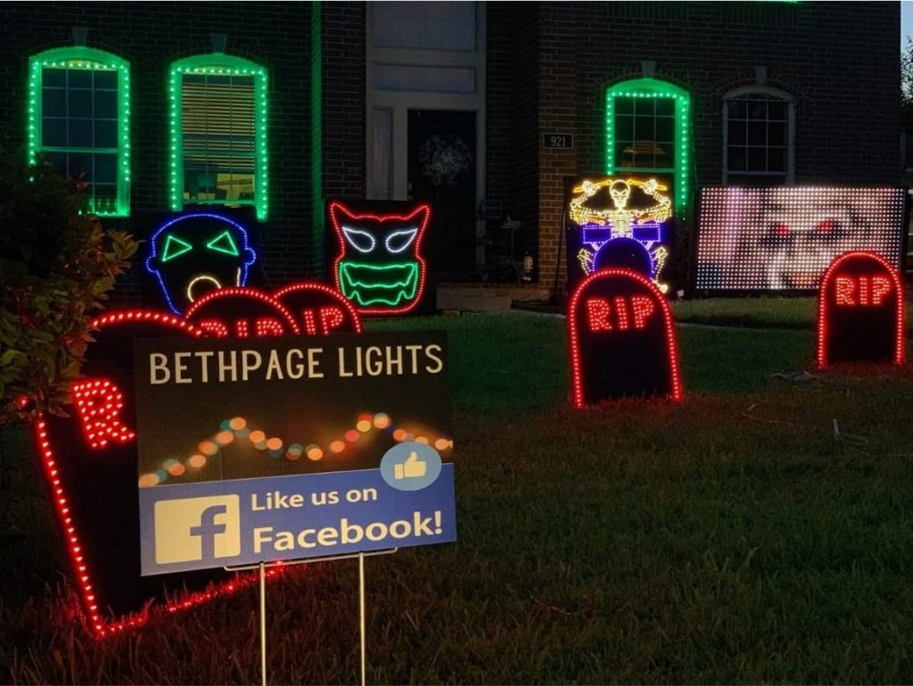 Halloween Homes & Light Shows in Round Rock   Round The Rock